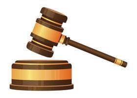 juge marteau isolé vecteur