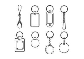 Vecteurs porte-clés vecteur