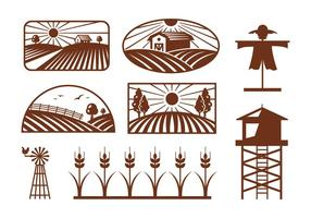 Vecteurs de champ de riz vecteur