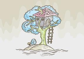 Illustration vectorielle de la maison d'arbre