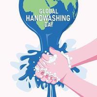 concept de journée mondiale de lavage des mains vecteur
