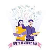 conception de célébration de la journée des enseignants vecteur