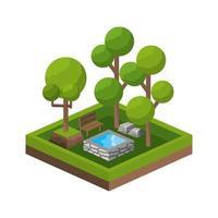 icône de parc isométrique