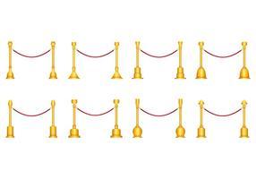 Vecteur de corde de velours