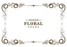 cadre floral décoratif marron décoratif