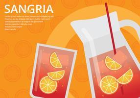 Modèle d'affiche d'événement Sangria vecteur