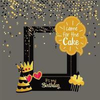 carte de voeux de cadre de fête d'anniversaire