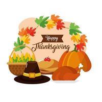 carte de voeux de nourriture de Thanksgiving