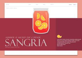 Modèle de page Web Sangria vecteur