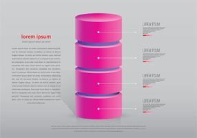 Modèle d'infographie de la tour rose vecteur