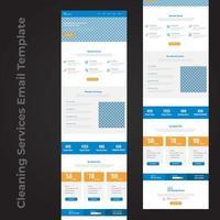 conception de page de modèle de courrier électronique de service de nettoyage vecteur