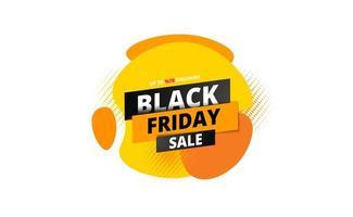 bannière de vente vendredi noir avec art fluide abstrait sur blanc
