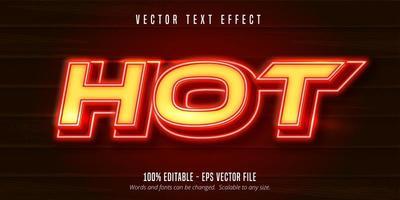 effet de texte modifiable - style très chaud vecteur