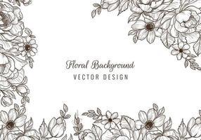 bordure florale de mariage décoratif et conception de coin vecteur