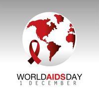 campagne de la journée mondiale du sida avec ruban