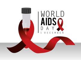 campagne de la journée mondiale du sida avec ruban rouge