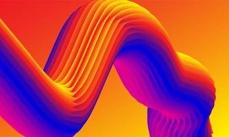 conception 3d de tunnel coloré épique vecteur