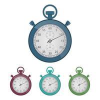 chronomètre vintage isolé sur fond blanc vecteur
