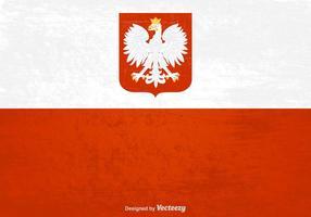 Vecteur de drapeau grunge polonais gratuit