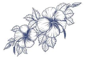 fleur de dessin à la main
