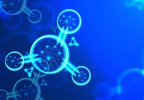 conception abstraite de wireframe polygonale atome ou molécule vecteur
