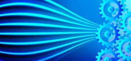technologie numérique futuriste de haute technologie et conception technique vecteur