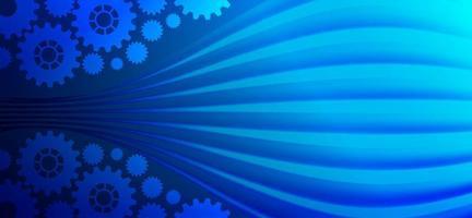 technologie numérique et ingénierie conception bleue abstraite vecteur