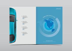 Modèle de page Web de voiture Prius vecteur