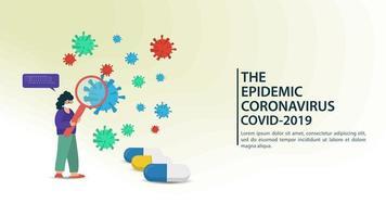 modèle de bannière de prévention des coronavirus vecteur