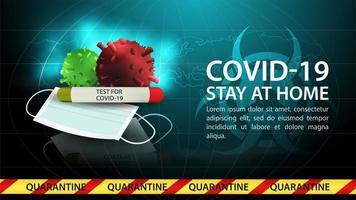 rester à la maison, modèle de bannière de danger de coronavirus vecteur