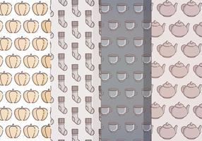 Patterns d'automne vectoriel