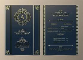 disposition du menu avec des éléments décoratifs vecteur