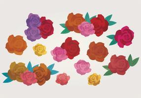 Ensemble de roses vectorielles