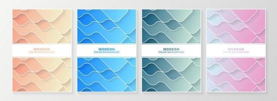 couvertures minimales de couche ondulée pastel