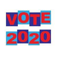 vote typographie graphique rouge bleu