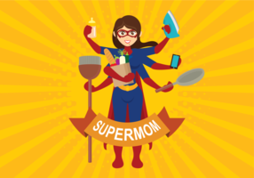Super maman illustration vectorielle