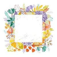 carte de voeux florale avec place pour le texte vecteur