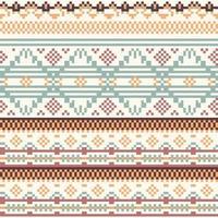 motif de pixel natif tribal géométrie