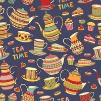 modèle de l'heure du thé