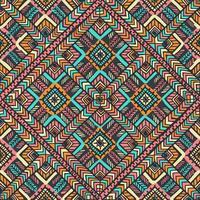 motif de flèche de diamant ethnique coloré