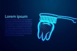concept de dent dentaire et brosse à dents vecteur