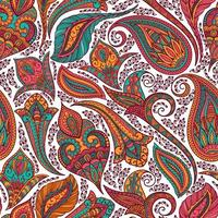 motif coloré paisley tribal vecteur