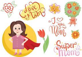 Vecteurs Super Mère gratuits vecteur