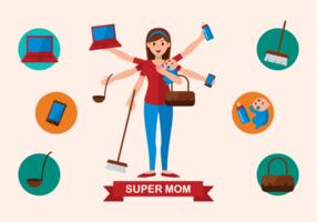 Super maman illustration vectorielle vecteur