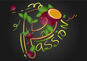 Illustration vectorielle de fruits de la passion