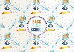 Vector gratuit de retour à l'illustration scolaire