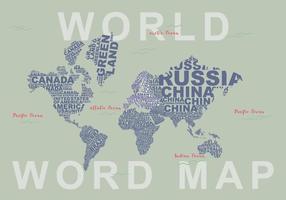 Illustration de carte de mot libre vecteur
