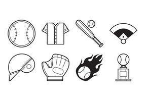 Vecteur libre d'icône de baseball