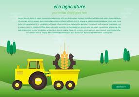 Modèle de page Web Agro vecteur
