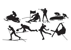 Vecteur de silhouette de sport d'hiver gratuit